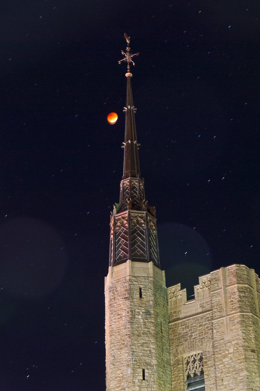 Super Blood Moon and the Steeple