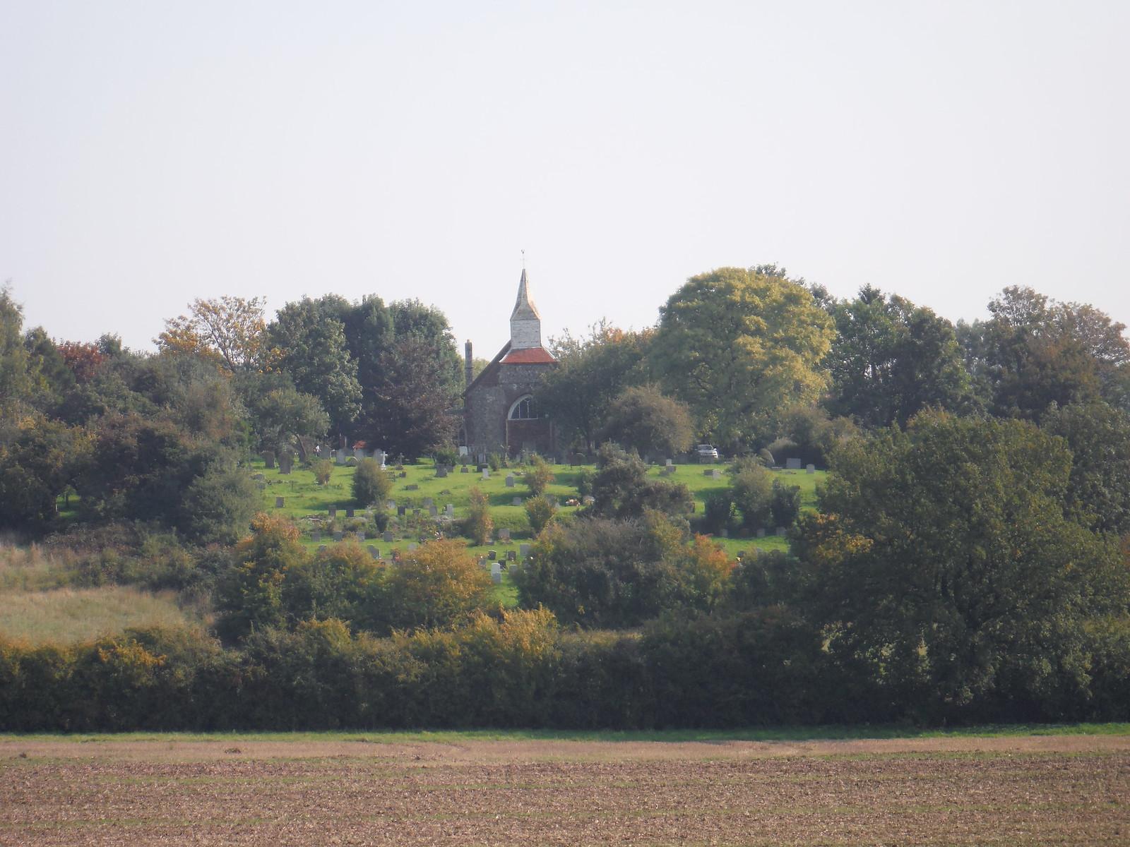 View back to Woodham Ferrers Church SWC Walk 159 South Woodham Ferrers to North Fambridge
