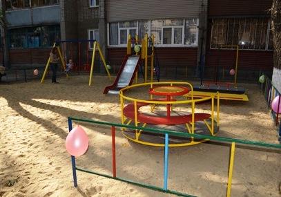 игровая площадка по улице Лермонтова