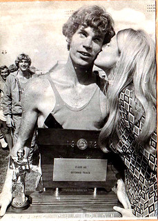 1972 Ames High School Class AA Outdoor Track State Champions Tom Lockhart Holding the Trophy