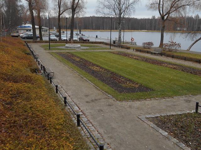 Viimeistä ruskaa ja vihreää nurmikkoa, 7.11.2015 Hämeenlinna Ystävyydenpuisto