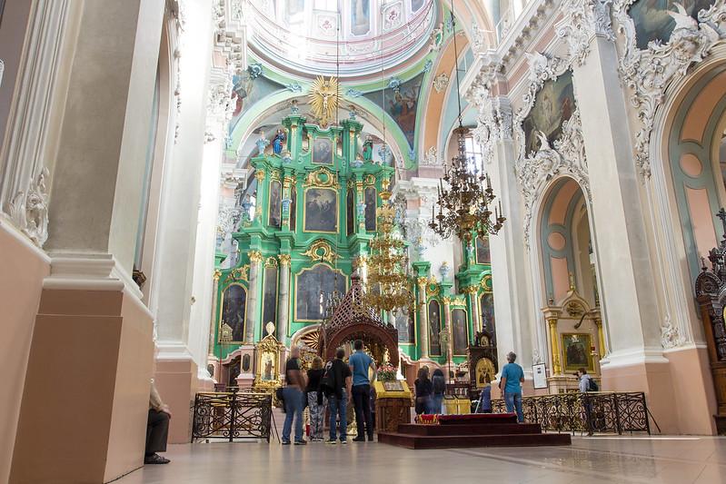 Wnętrze - Cerkiew św. Michała i Konstantyna w Wilnie