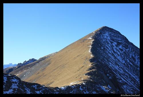 Contraste neige à l'ombre depuis le Col de la Romeïou