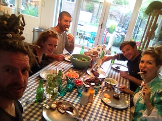 Dinner with the Kneppel house hold.