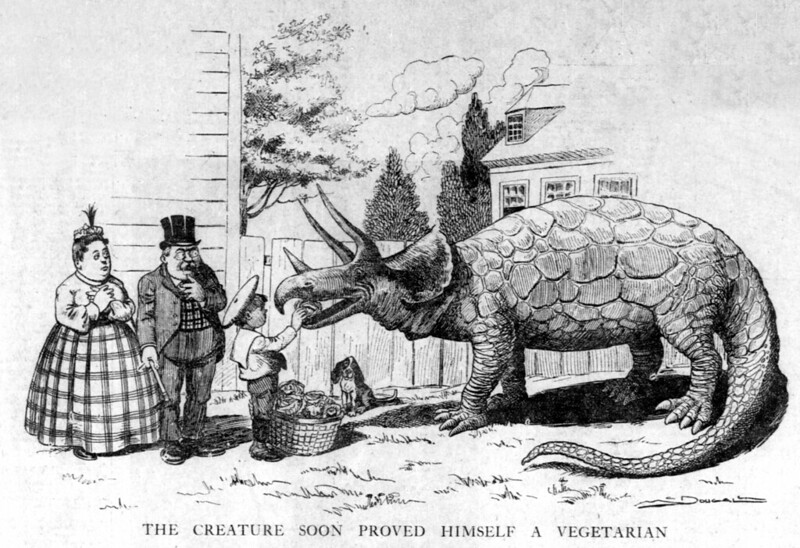Walt McDougall - The Salt Lake herald., March 06, 1904, The Creature Soon Proved Himself A Vegetarian