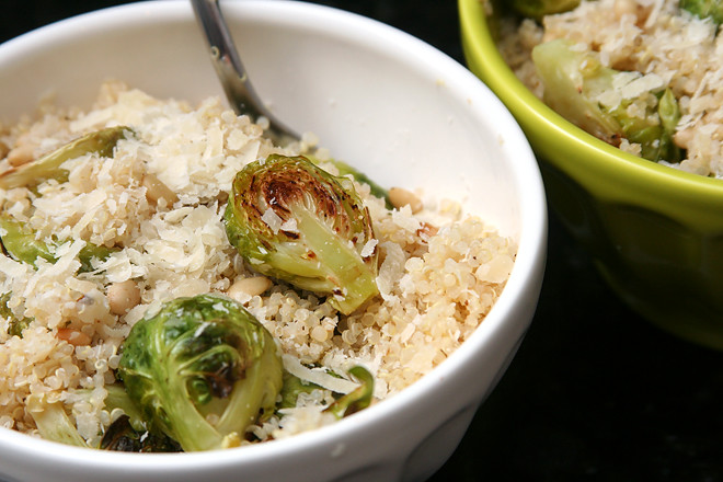quinoa brussels sprouts pine nuts 5