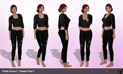 //Panda Poses// Female Pack 1