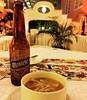 "Dinner time: tasty ""Sopa de Lima"" with a regional Montejo beer.  #VenAMeridaBlanca in #ExperienciaPresidente"