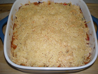 Pinto Bean Casserole with Tortilla Chip Crust
