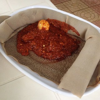 Doro Wat, spicy chicken with a boiled egg and and Ethiopian favourite, though not top of our list