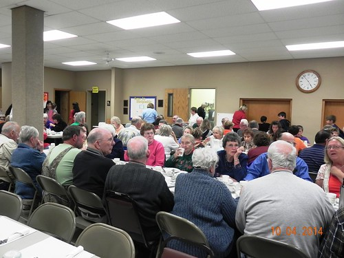 The turkey dinner fundraiser in October 2014 raised enough funds to purchase food for 3,300 bags.