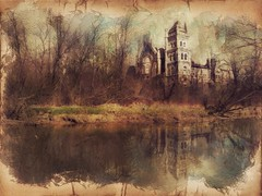 #composite #landscape #image created on the #ipad 'Court House in the Woods'