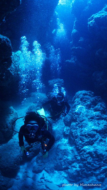 洞窟探検も楽しめました♪