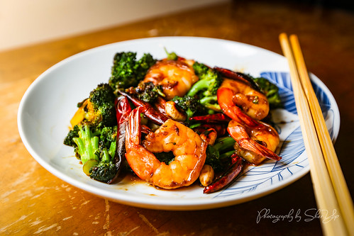Shrimp and Broccoli w/ Kung Pao Sauce