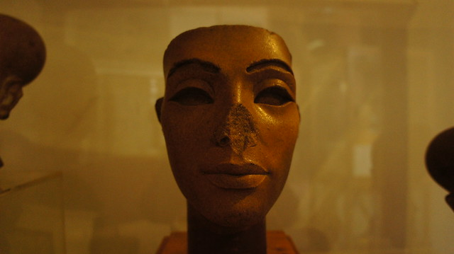 Unfinished bust of Queen Nefertiti