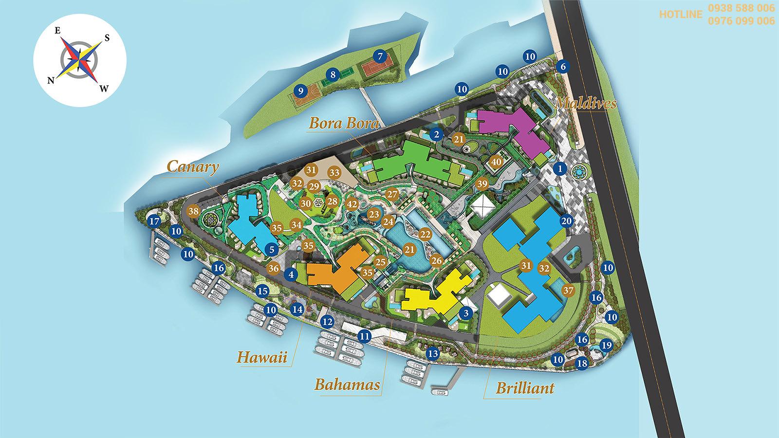 Tiện ích dự án Đảo Kim Cương - Diamond Island quận 2.