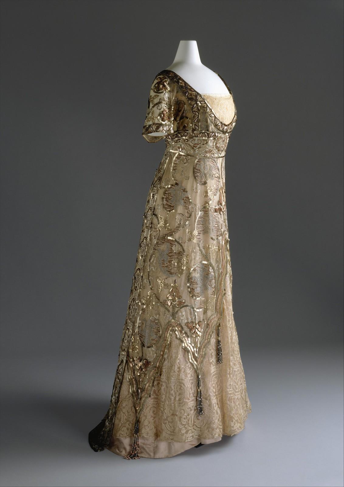 1910 Callot Soeurs. Cotton, Silk, metal. metmuseum
