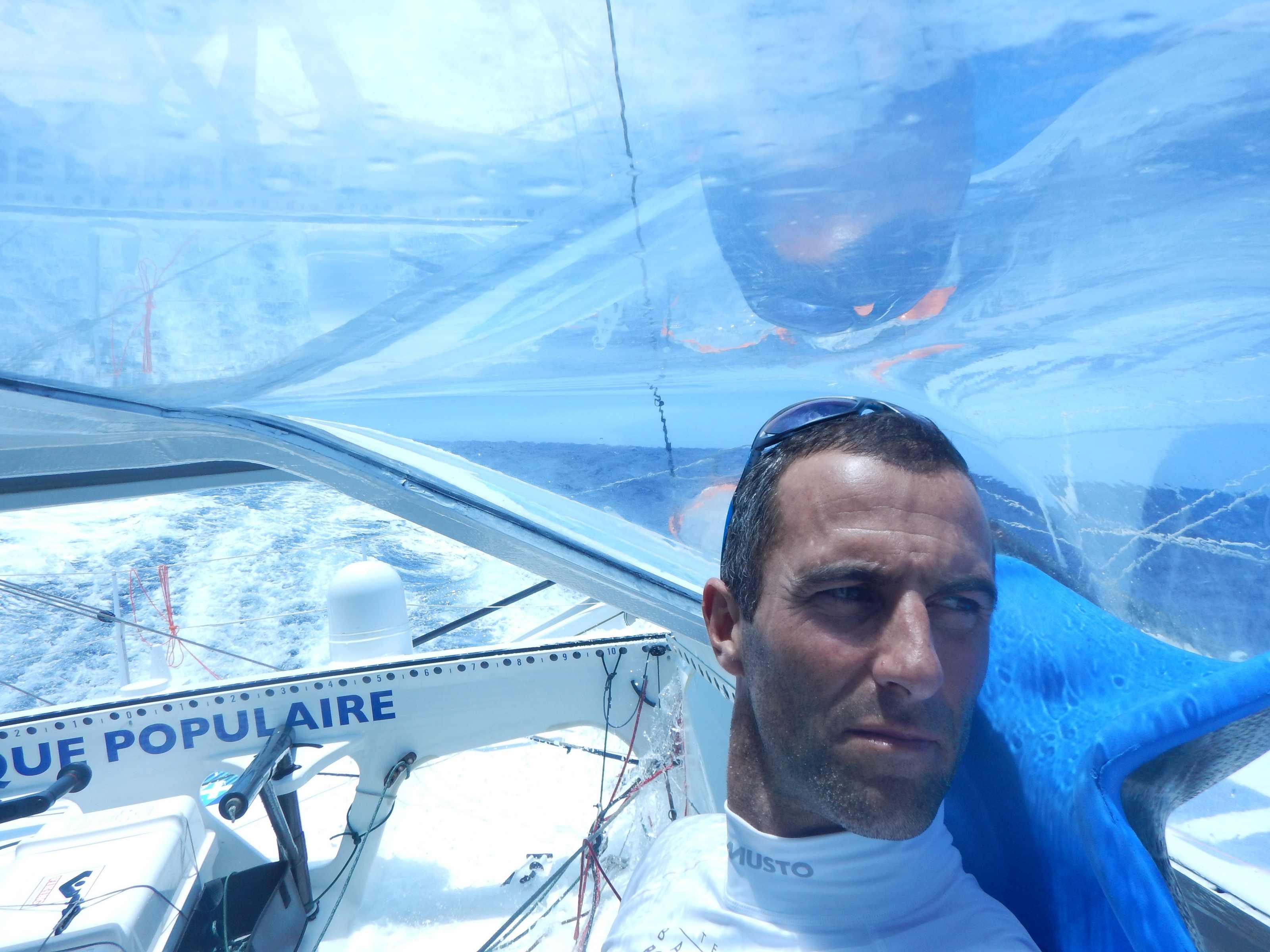 Jour 12 : Images du bord Armel Le Cléac'h -Vendée Globe 2016