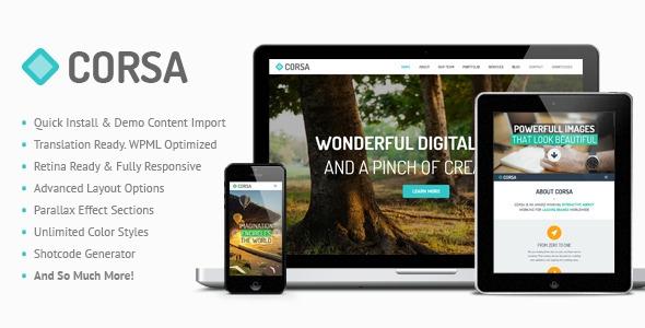 Corsa v1.8.6 – Retina Responsive Creative OnePage Theme