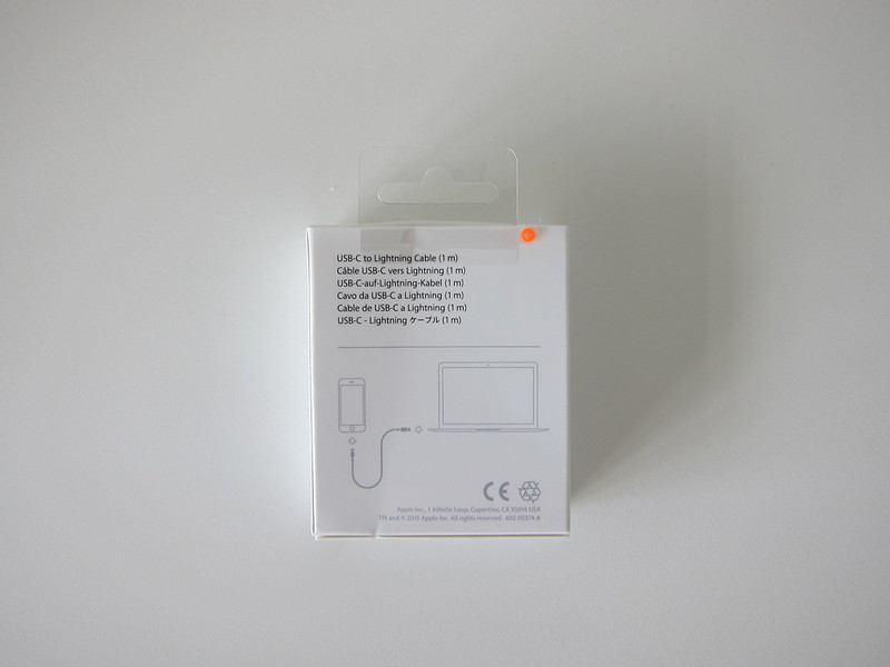 Apple USB-C to Lightning Cable - Box Back