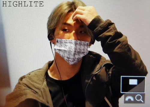 YB Dae TOP arrival Seoul from Nagoya 2016-12-05 (4)