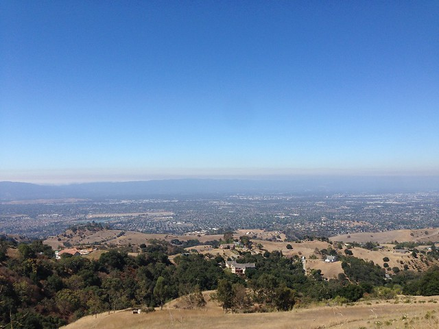 Somewhat hazy view from Mt.Hamilton Rd