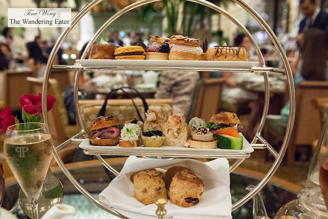 Our tier of Champagne Tea food