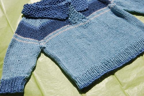 Handknit baby Telemark pullover by irieknit