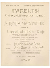 Consolidated Parents meeting: 1949