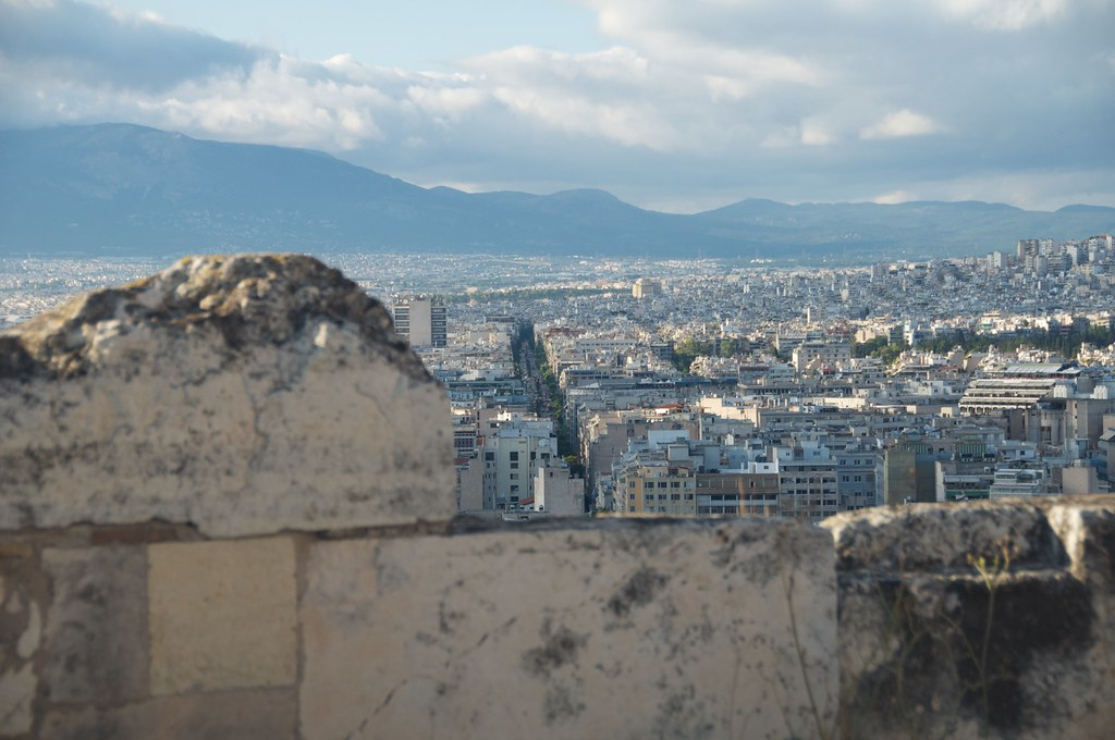 Athens city view from Acropoli