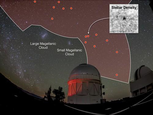 Mapa de la galaxia de DES