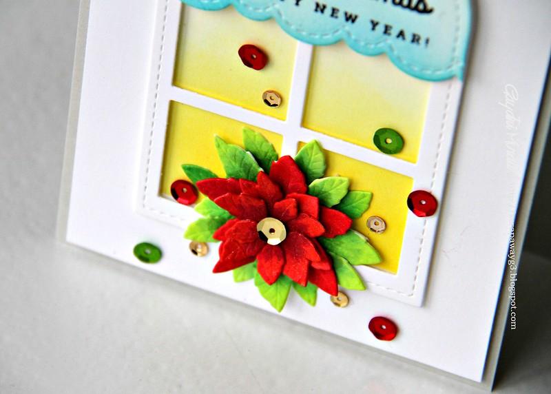 Christmas card closeup
