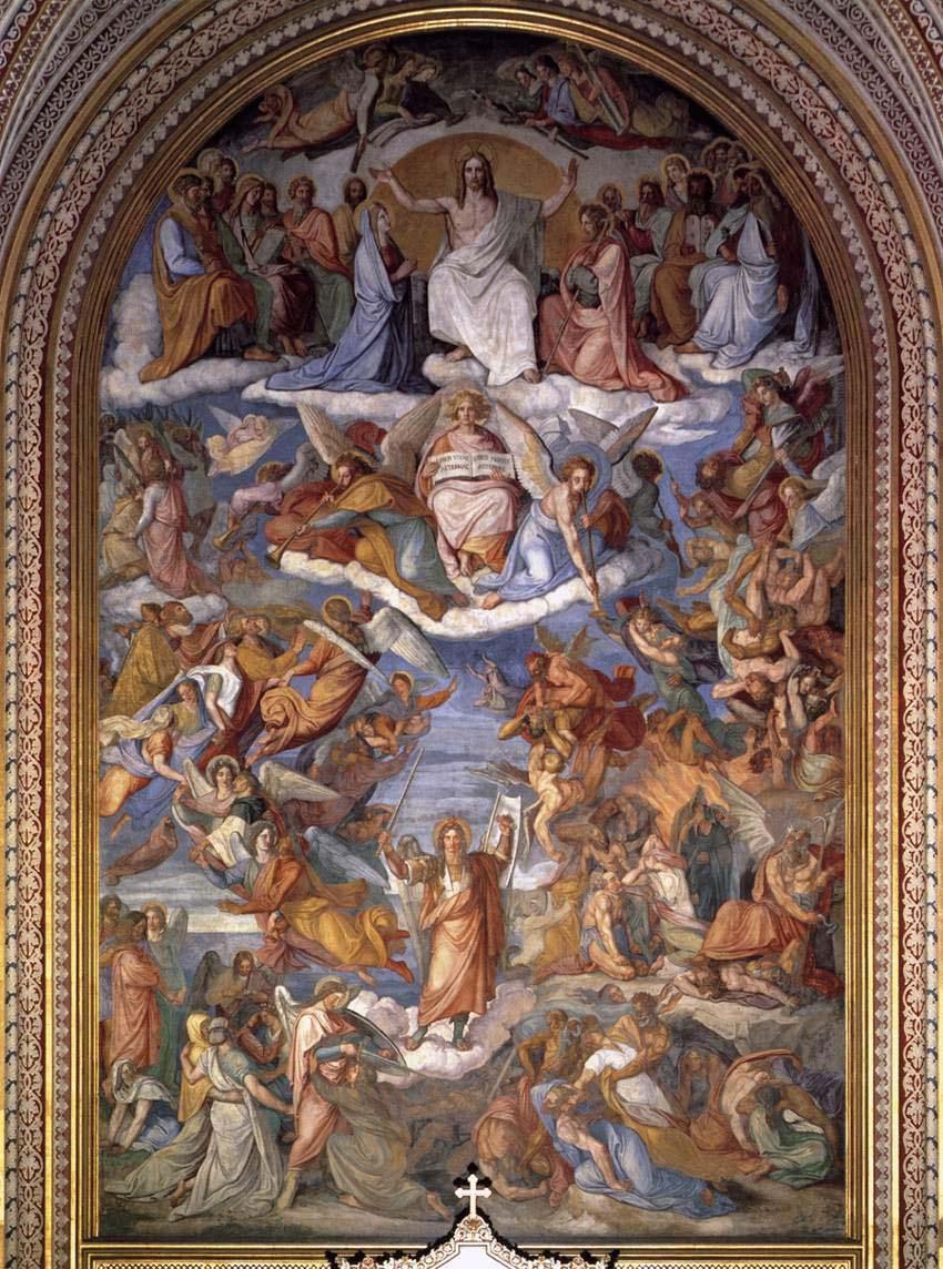 Peter von Cornelius, Das jüngste Gericht, Fresko 1836--1839, Ludwigskirche München