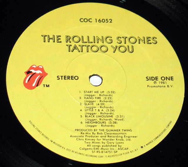"Rolling Stones - Tattoo You USA 12"" Vinyl LP"