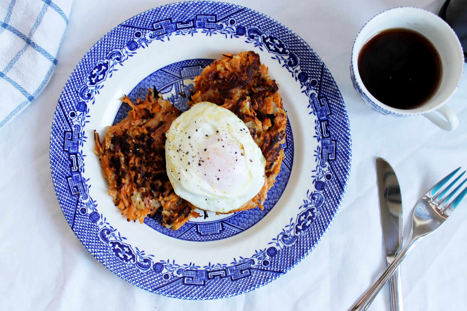 sweet potato and apple hash browns