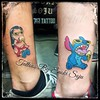 """Matching Tattoos by Enoki Soju --  To see more of my work you can either google my name """"Enoki Soju"""" or visit my Artist Page on Facebook at: http://www.facebook.com/enokisojutattoo  -Enoki Soju (Traveling & Independent Artist)  #이누끼소주 #타투 #문신 #enoki #enok"""