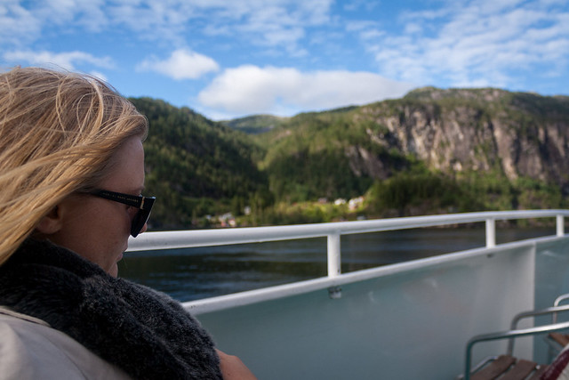 Kristina on the fjords cruise, Bergen