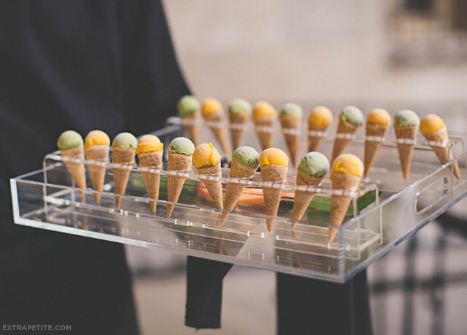 wedding mini ice cream cones