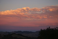 Sunset on clouds, twilight on hills.. lovely!  aDSC_912
