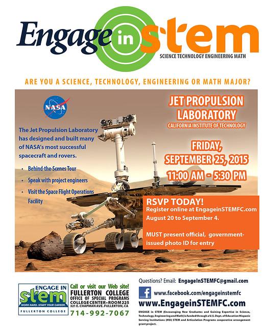 STEM: JPL Tour F15
