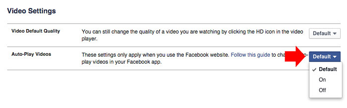 How to Turn Off AutoPlay video on Facebook