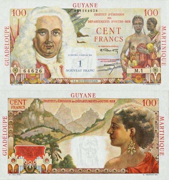 1 Nový frank Francúzske Antily 1960 P01 - REPLIKA