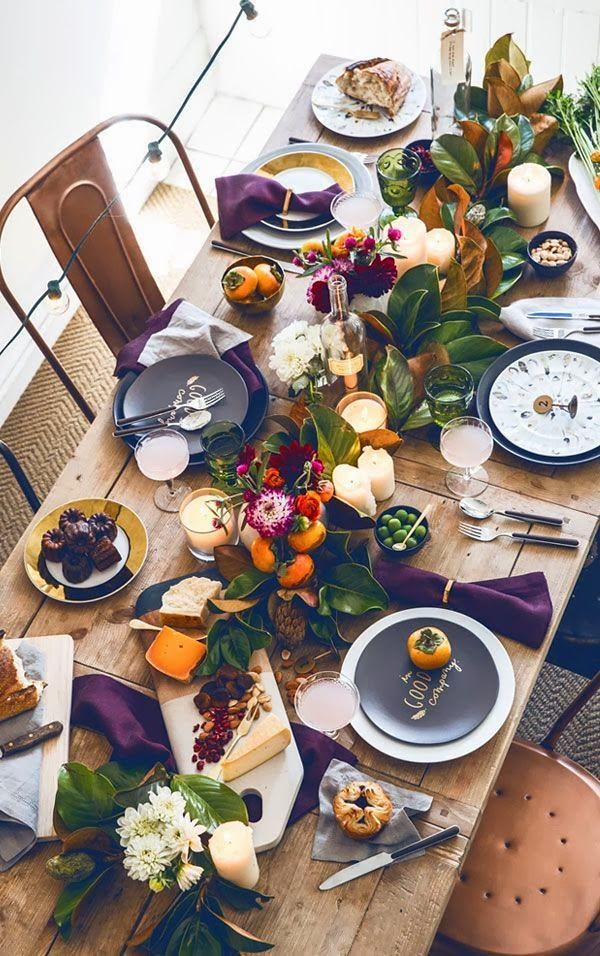 Thanksgiving Tablescapes | Fall Pumpkins Dinner Table Setting