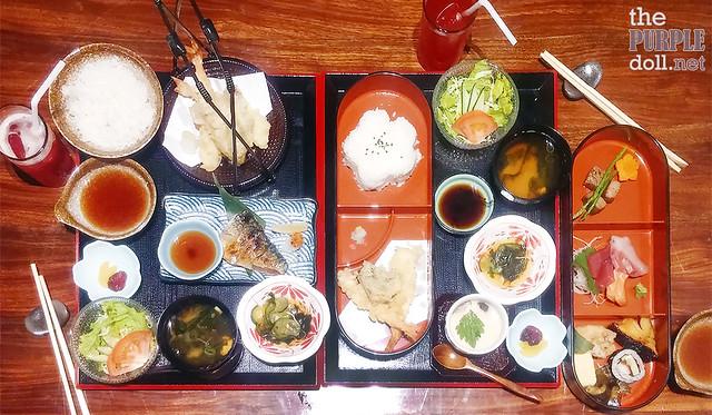 Set meal and bento at Ogawa