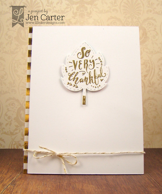 Jen Carter So Thankful Gold White 3 wm