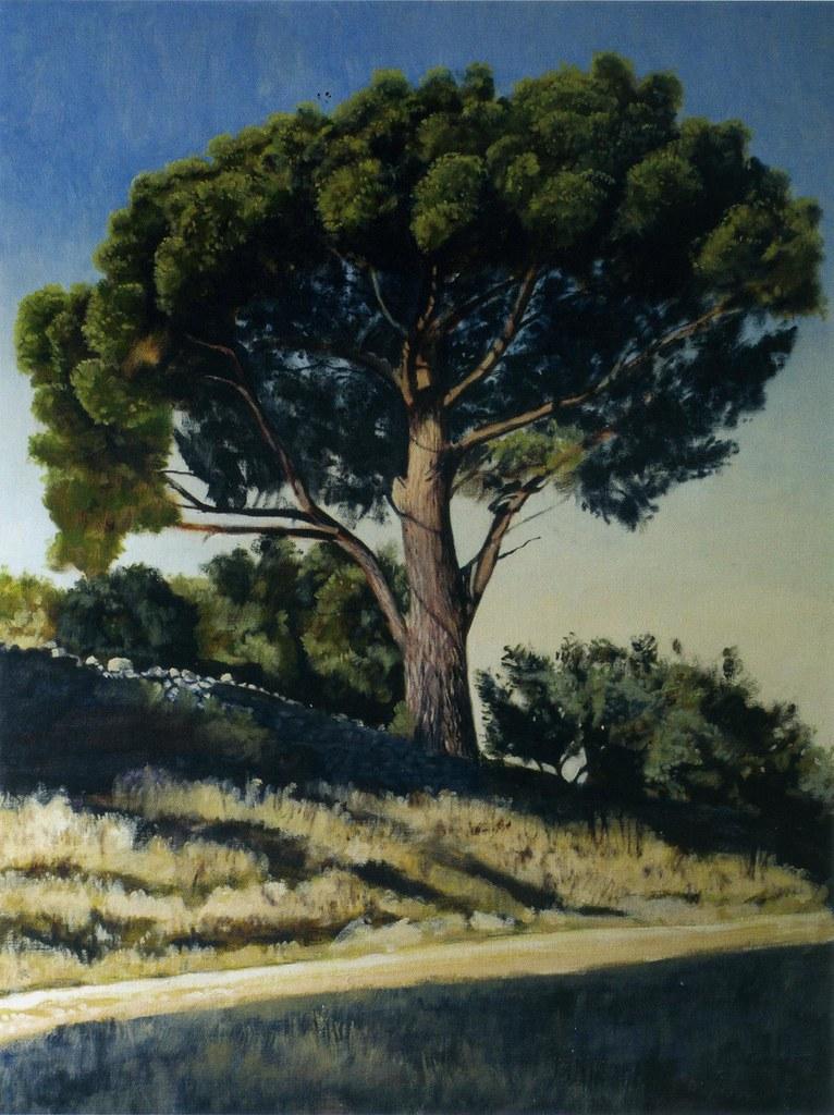 Pin : Nébian 2007, huile sur toile, 97 x 130 cm