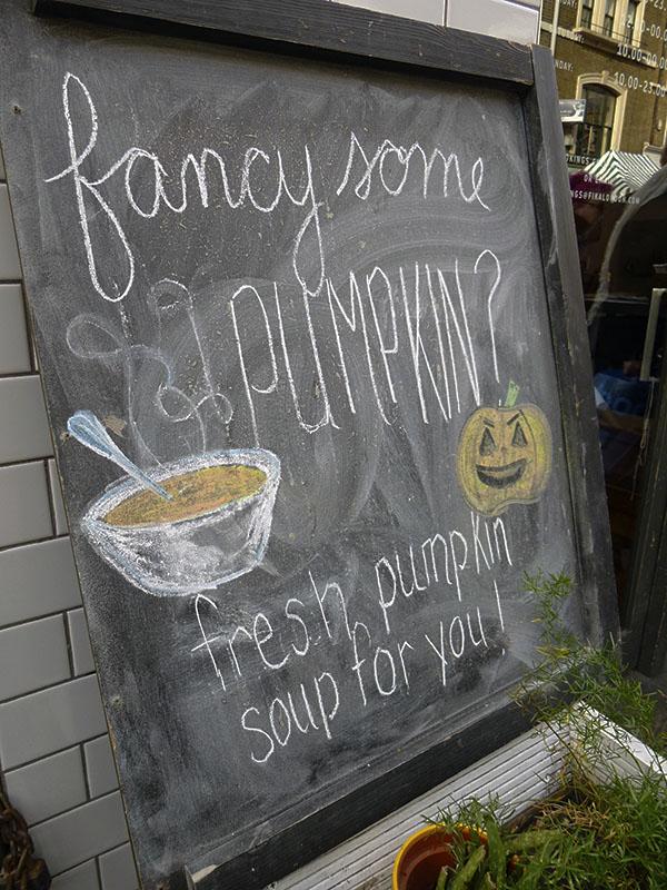 frsh pumpkin soup