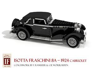 1924 Isotta Fraschini Tipo 8A F. Ramseier & Cie Worblaufen Cabriolet
