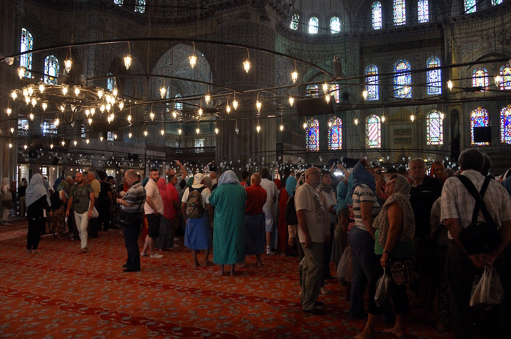 Visting Blue Mosque in Istanbul