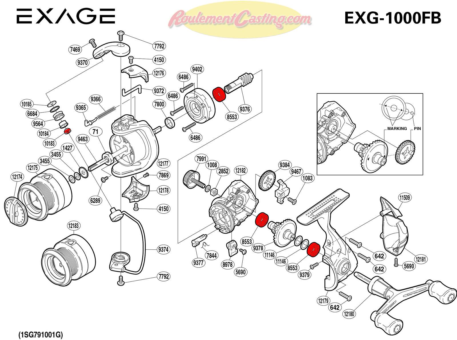 Schema-Shimano-EXAGE-1000FB
